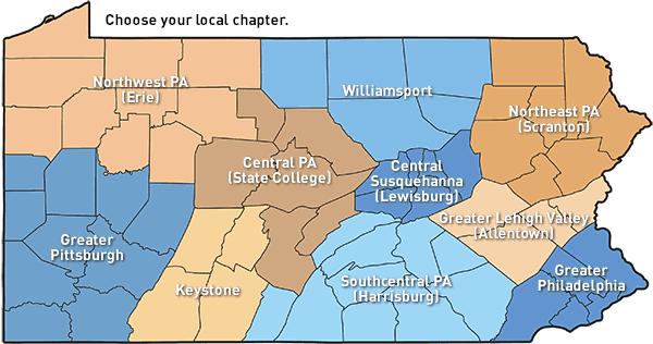 ACLU-PA Chapter Map