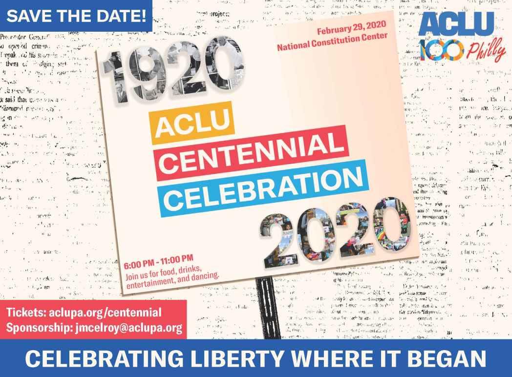 Centennial save the date