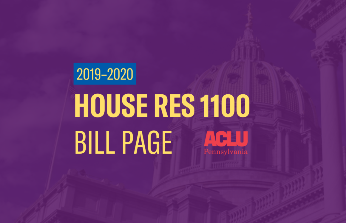 ACLU-PA Bill Page | HR 1100