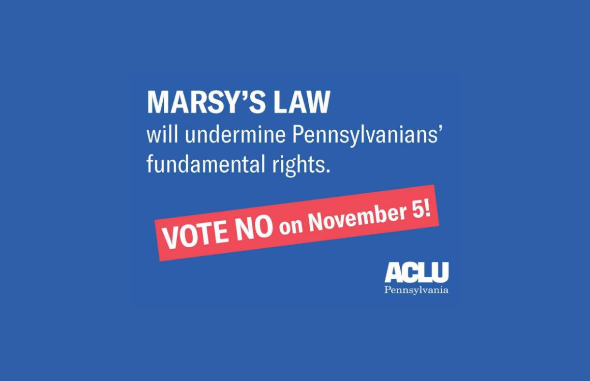 ACLU-PA Bill Page   Marsy's Law